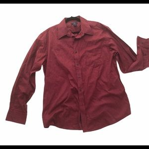 Dockers Burgundy Men  Button Down Shirt XL